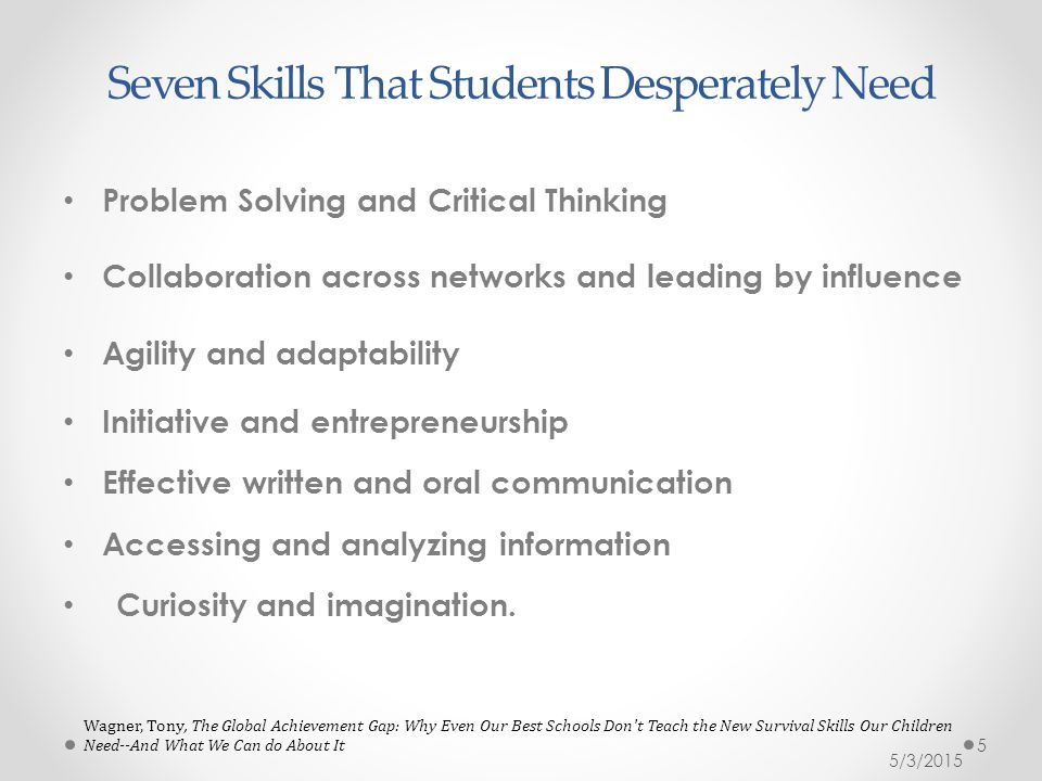 Seven Skills That Students Desperately Need