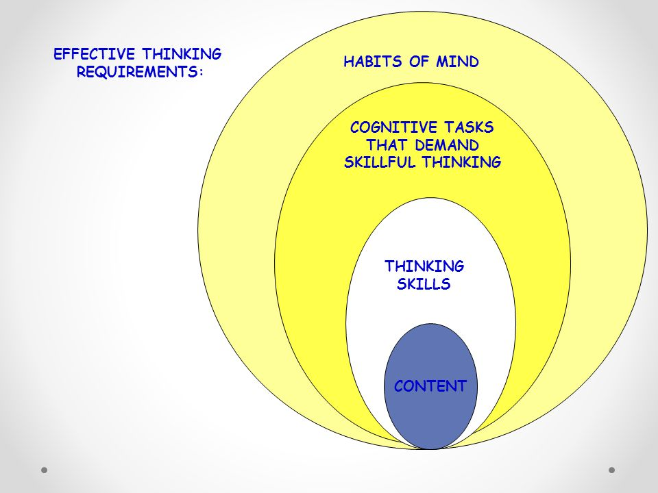 EFFECTIVE THINKING REQUIREMENTS: HABITS OF MIND COGNITIVE TASKS
