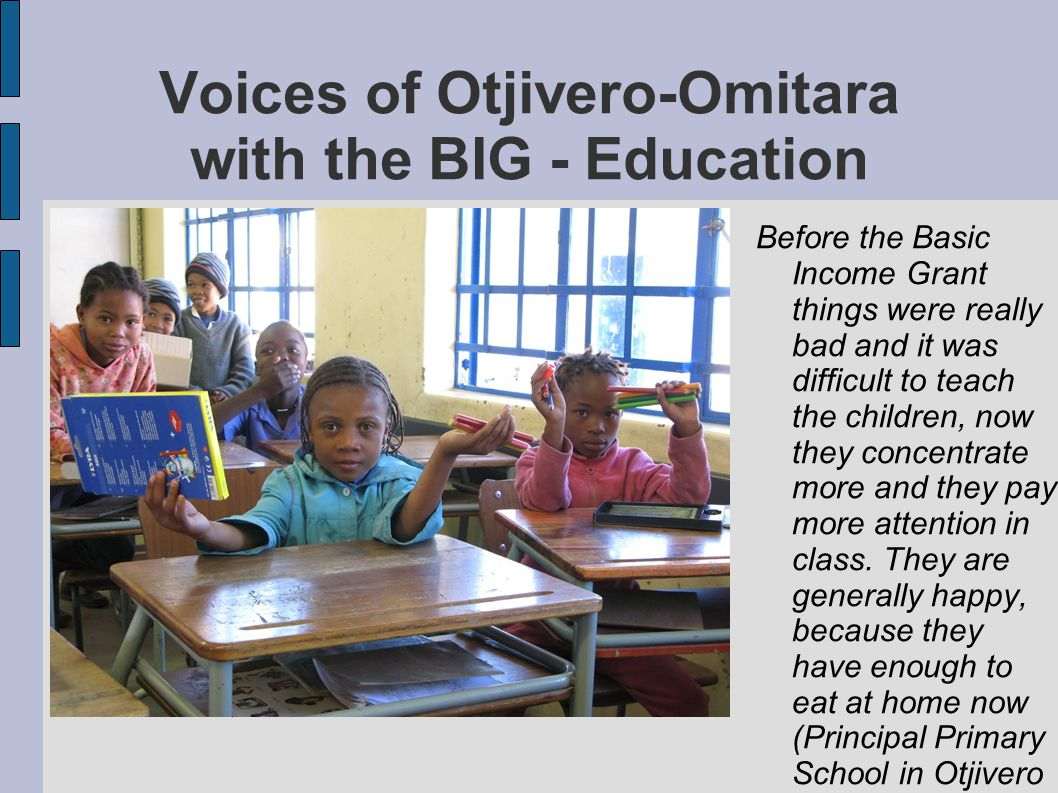 Voices of Otjivero-Omitara with the BIG - Education