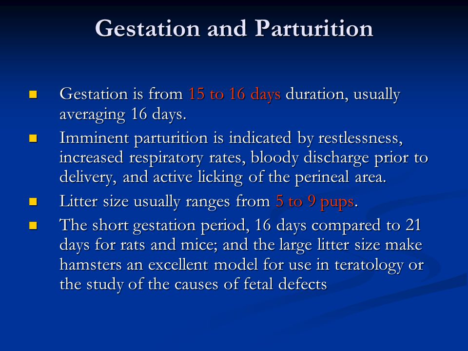 Gestation and Parturition