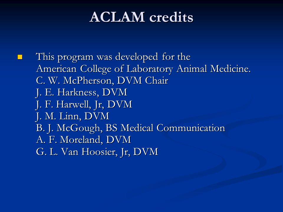ACLAM credits
