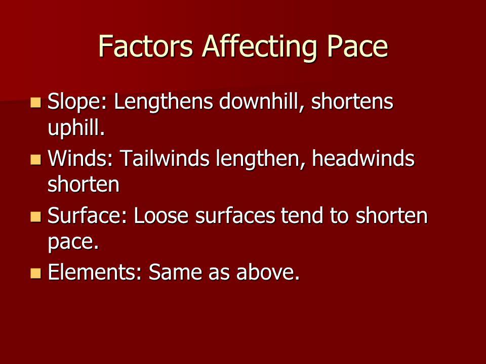 Factors Affecting Pace