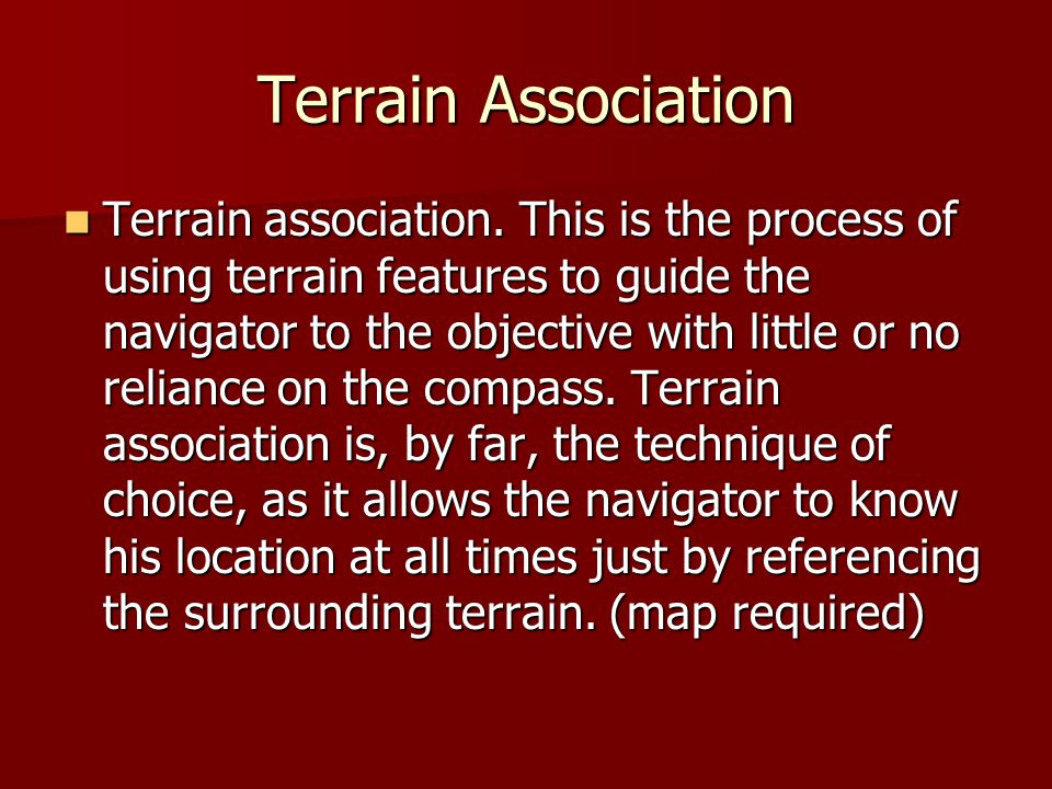 Terrain Association