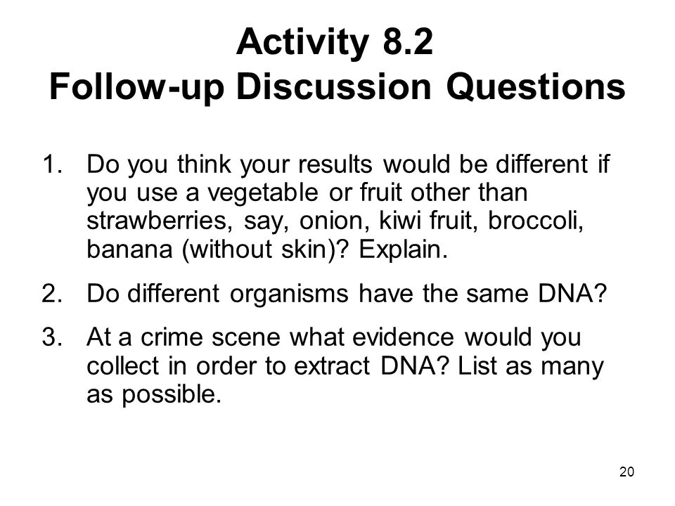 Activity 8.2 Follow-up Discussion Questions