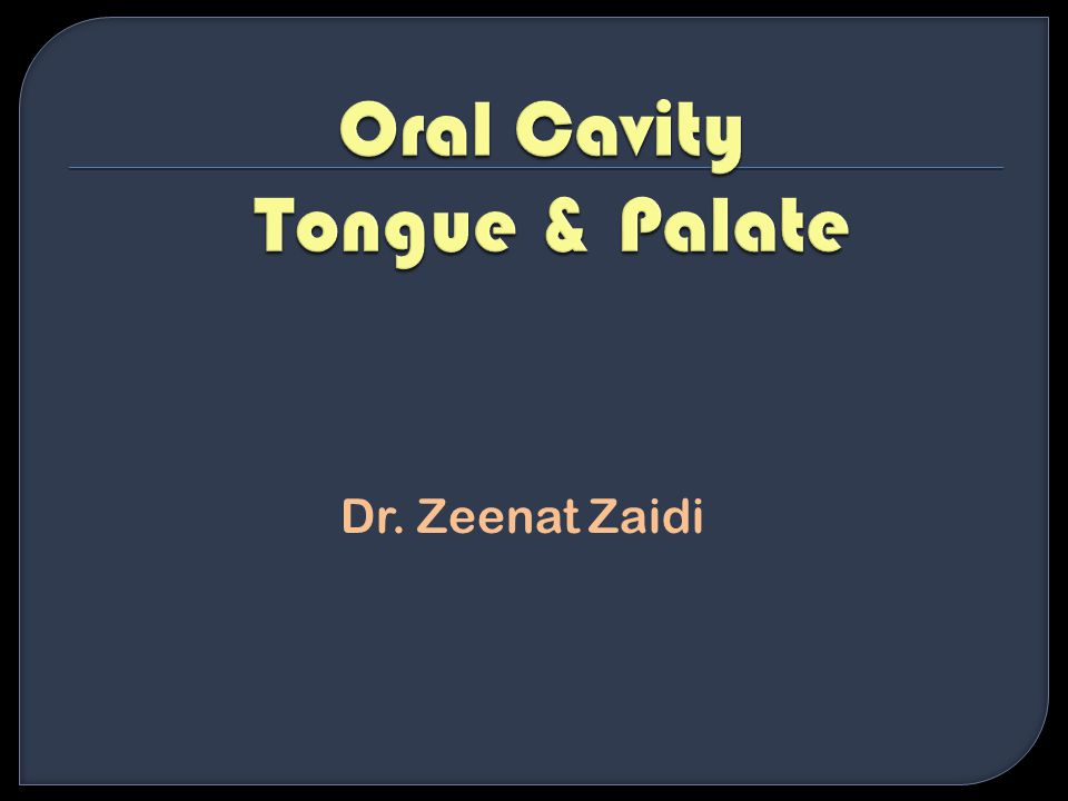 Oral Cavity Tongue & Palate