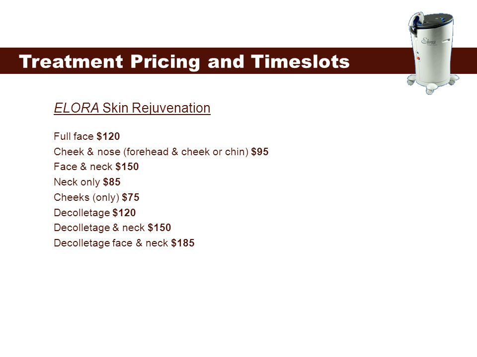 Treatment Pricing and Timeslots