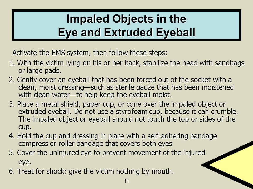 Impaled Objects in the Eye and Extruded Eyeball