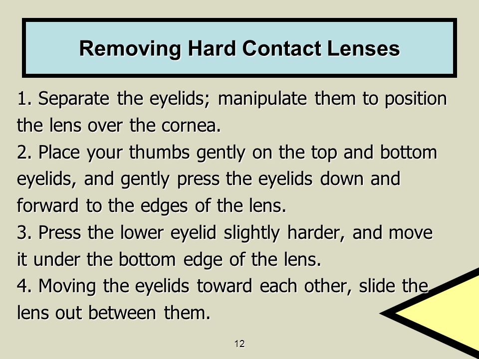 Removing Hard Contact Lenses