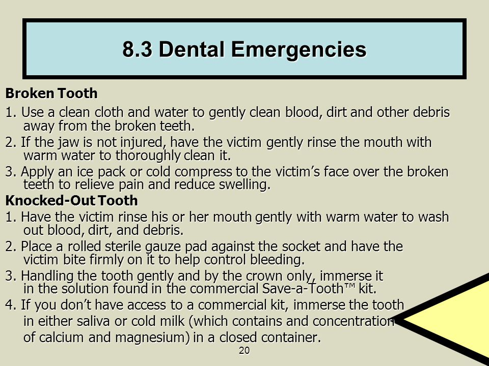 8.3 Dental Emergencies Broken Tooth