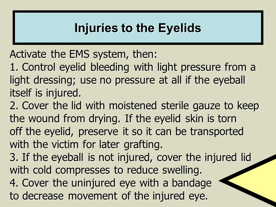 Injuries to the Eyelids