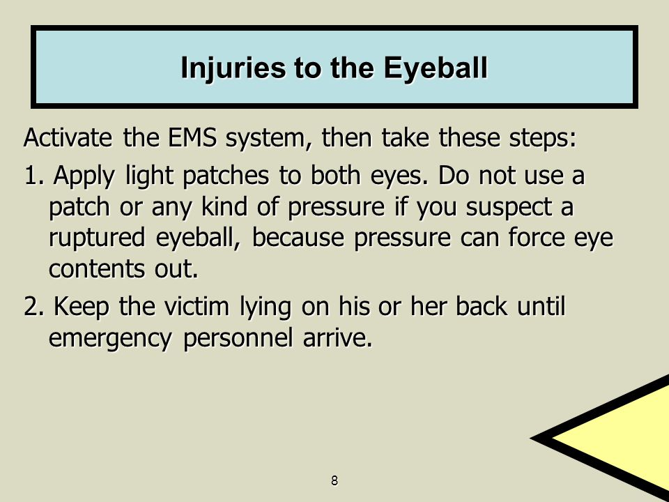 Injuries to the Eyeball