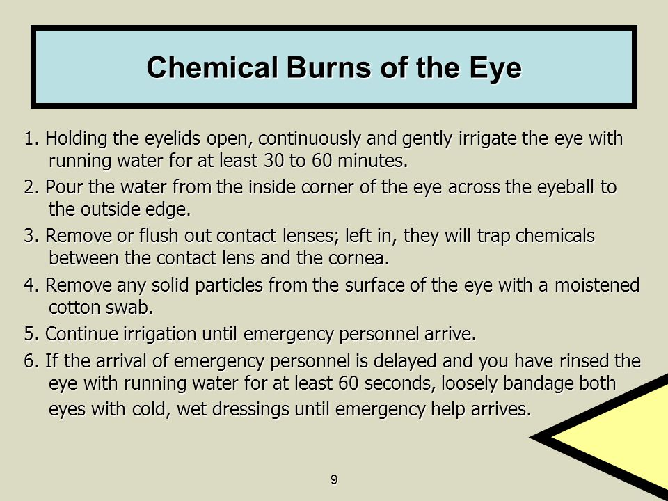 Chemical Burns of the Eye