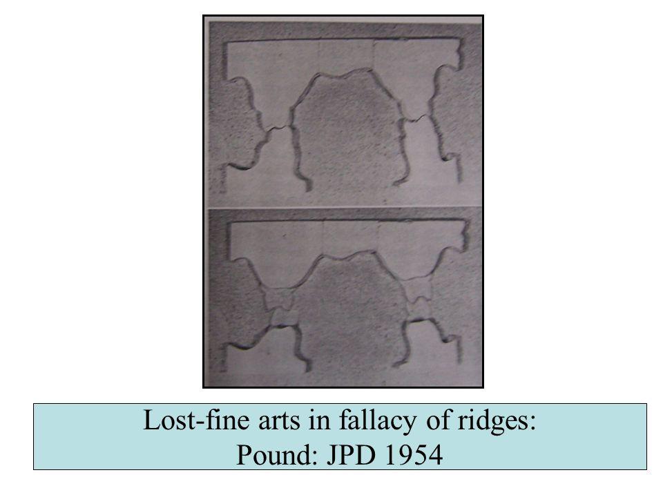 Lost-fine arts in fallacy of ridges: