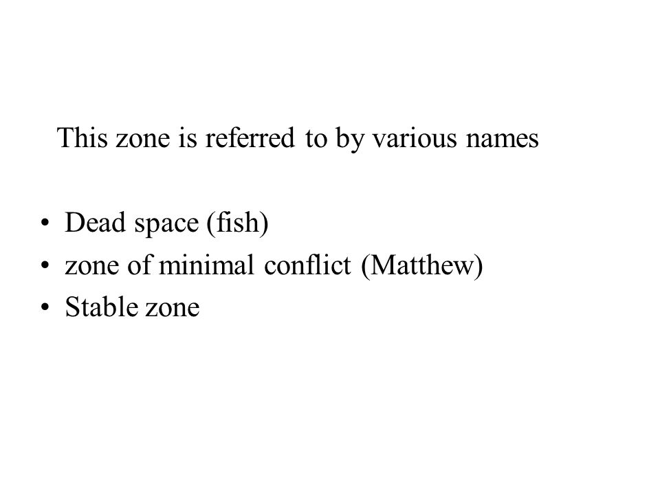 This zone is referred to by various names