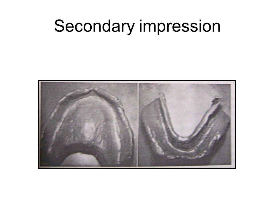 Secondary impression