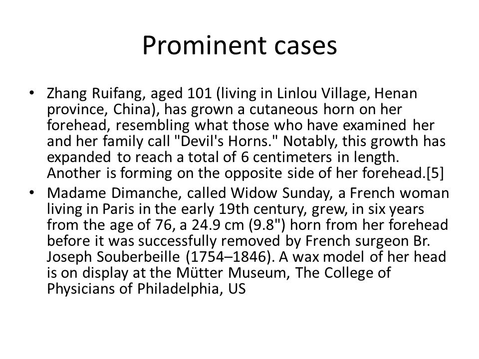 Prominent cases