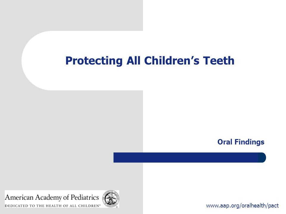 Protecting All Children's Teeth