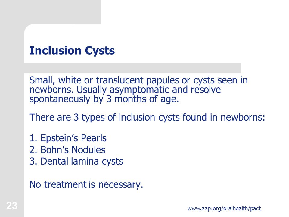 Inclusion Cysts