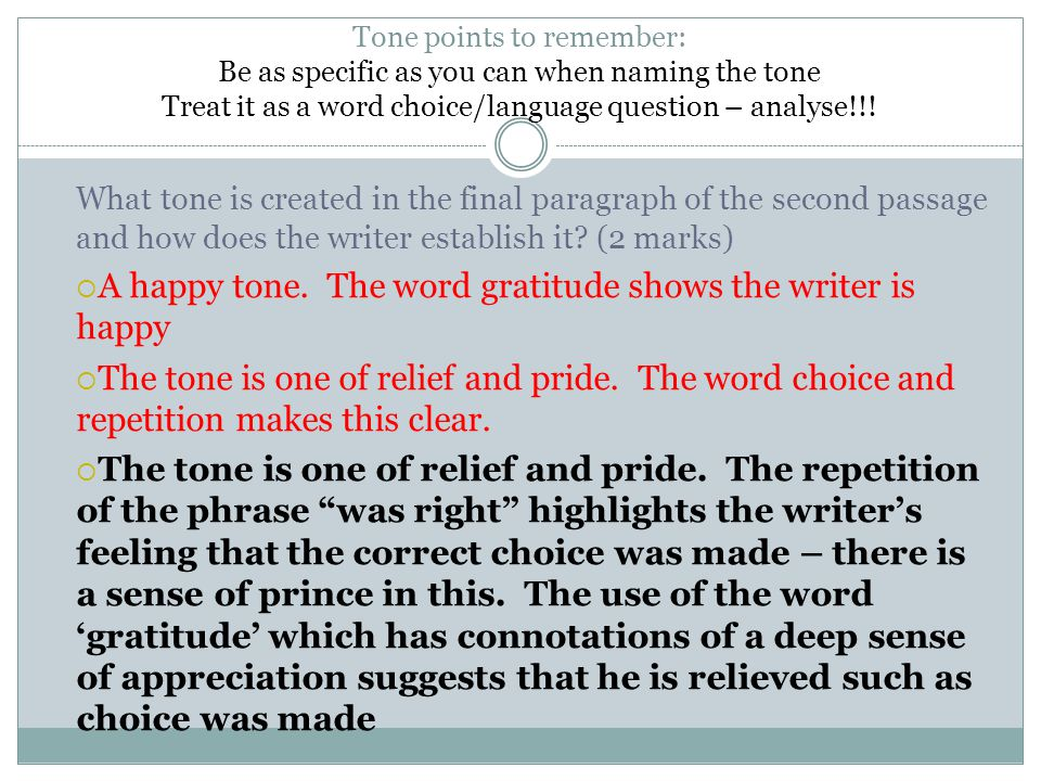 A happy tone. The word gratitude shows the writer is happy