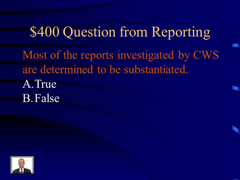 $400 Question from Reporting