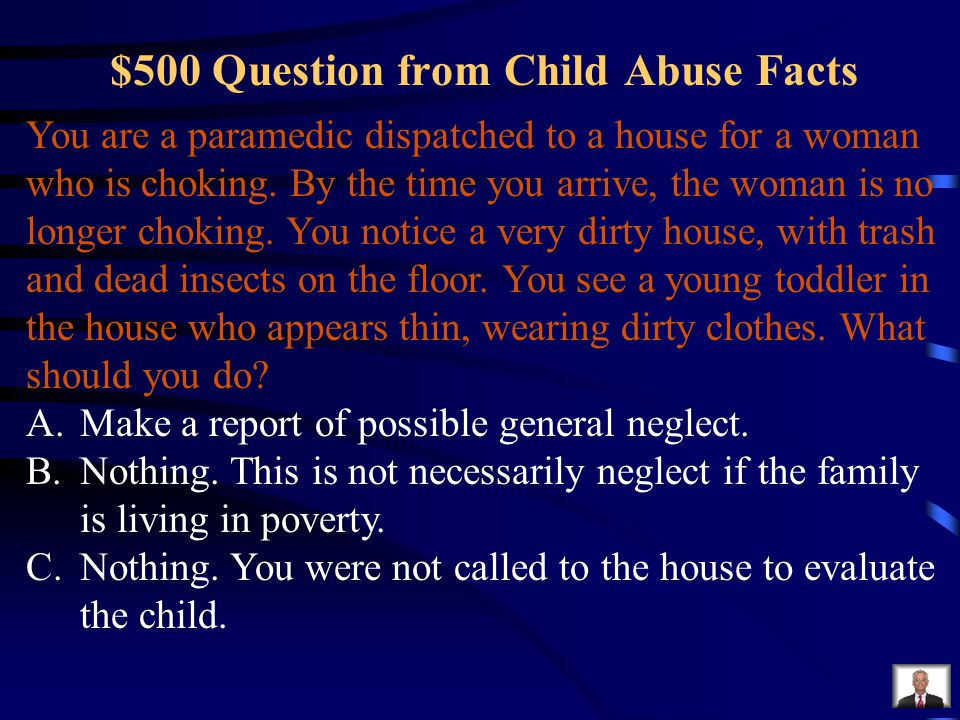 $500 Question from Child Abuse Facts