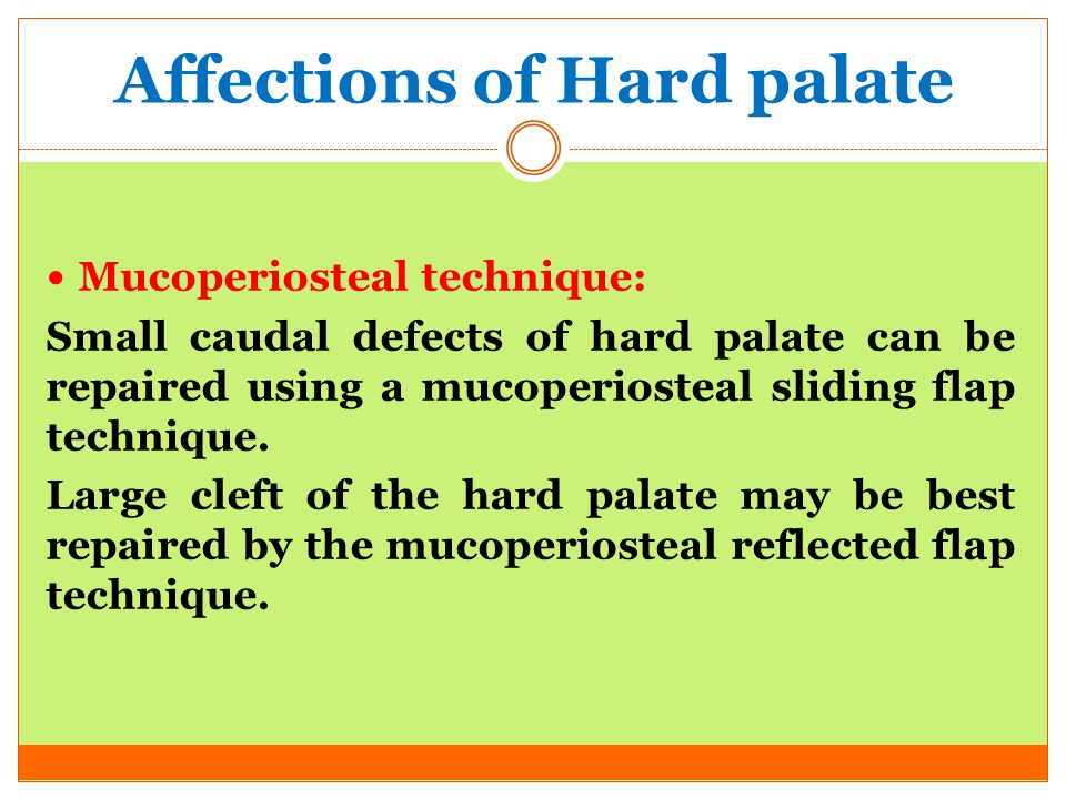 Affections of Hard palate