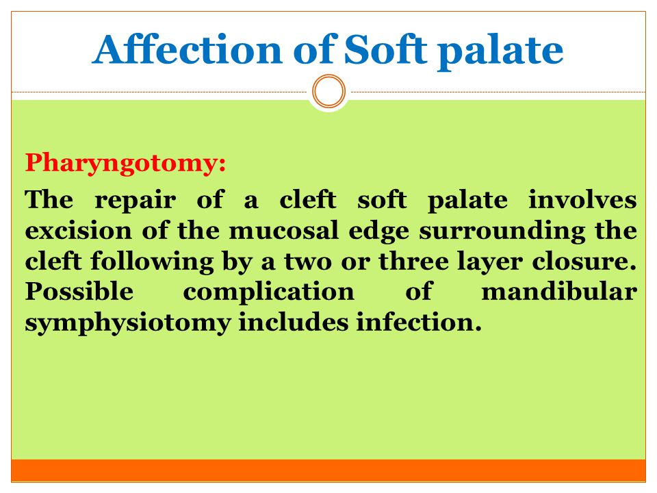 Affection of Soft palate