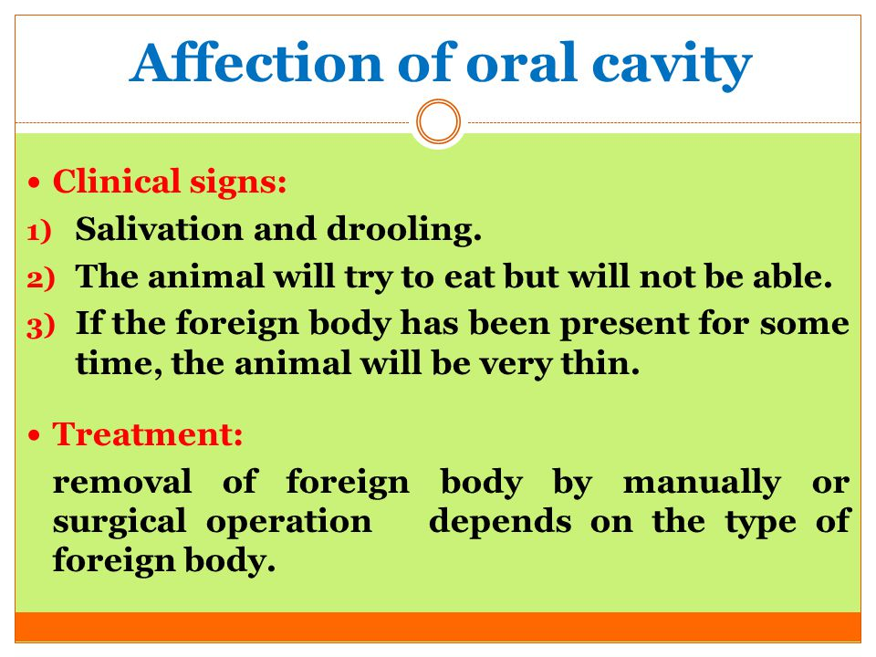 Affection of oral cavity