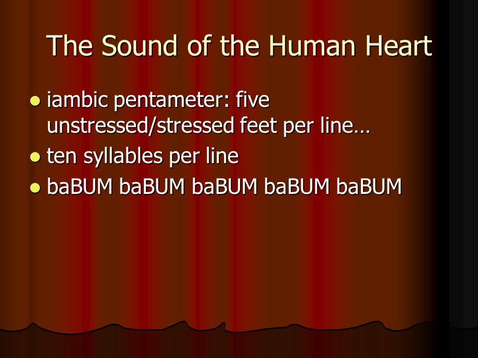 The Sound of the Human Heart