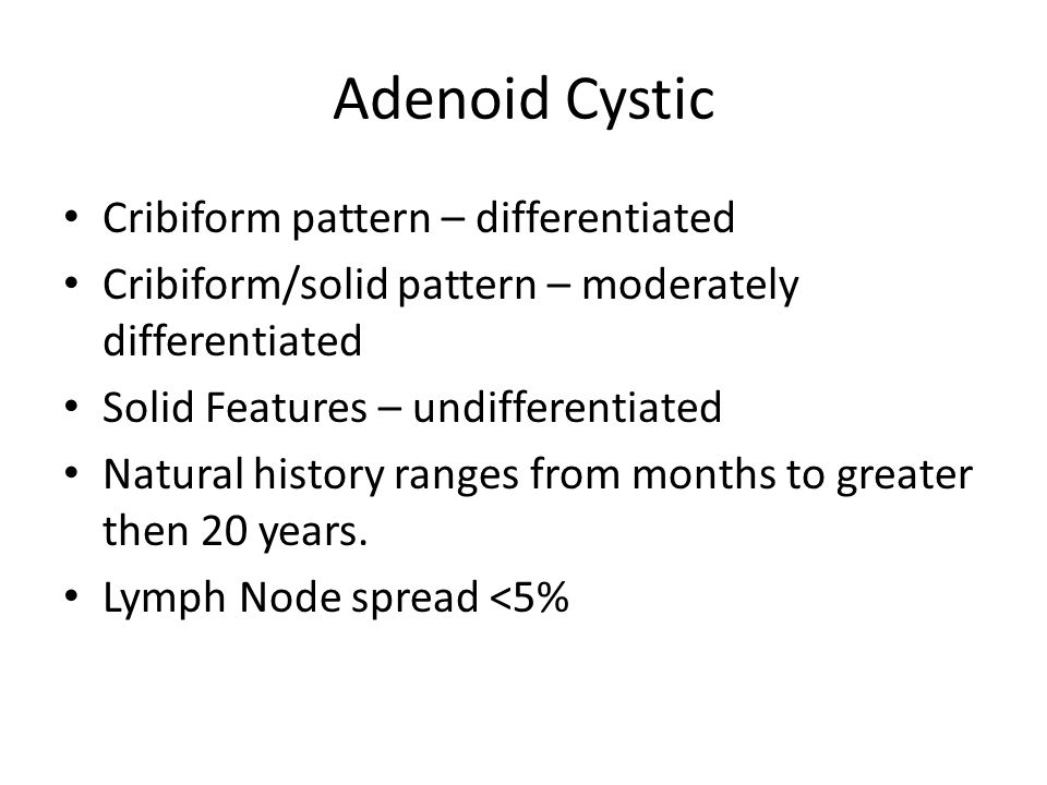 Adenoid Cystic Cribiform pattern – differentiated