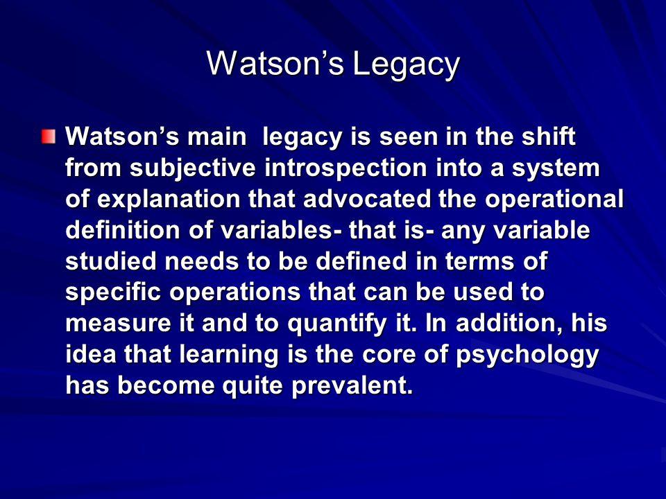 Watson's Legacy