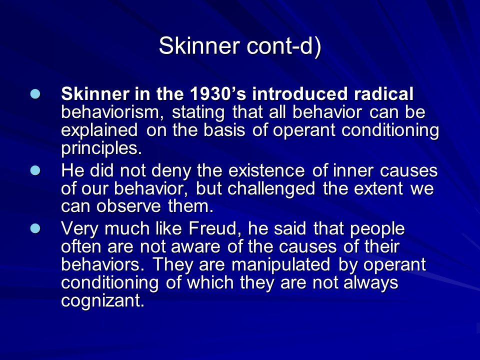 Skinner cont-d)