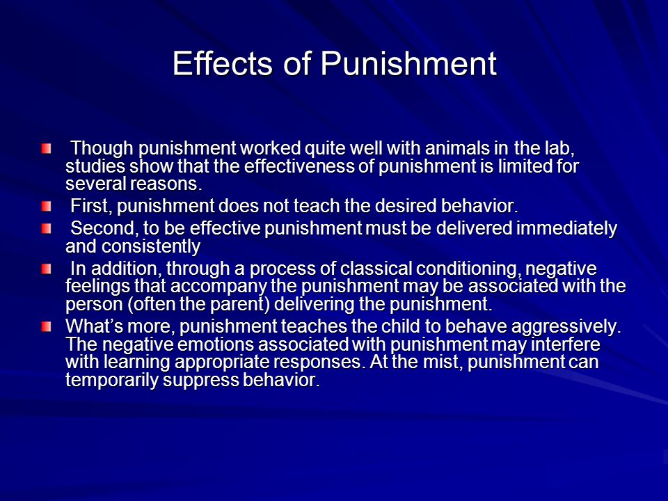 Effects of Punishment