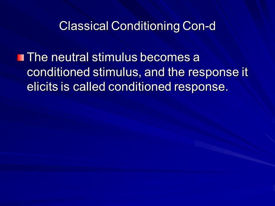 principles of classical conditioning identified by thorndike Operant conditioning powerpoint lecture 1 operantconditioning lecture 2 learning perspective• behaviorism: emphasizes the study of observable behaviors and events and the predictable role of environment in causing behavior – biology sets limits, but environment is more influential.