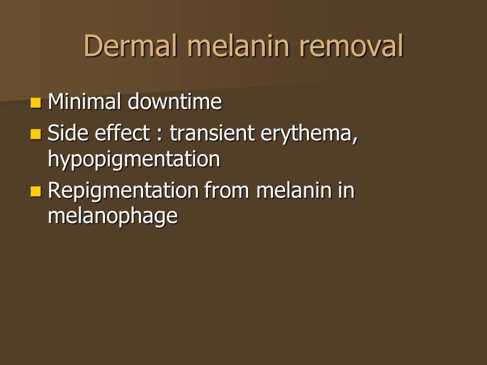 Dermal melanin removal