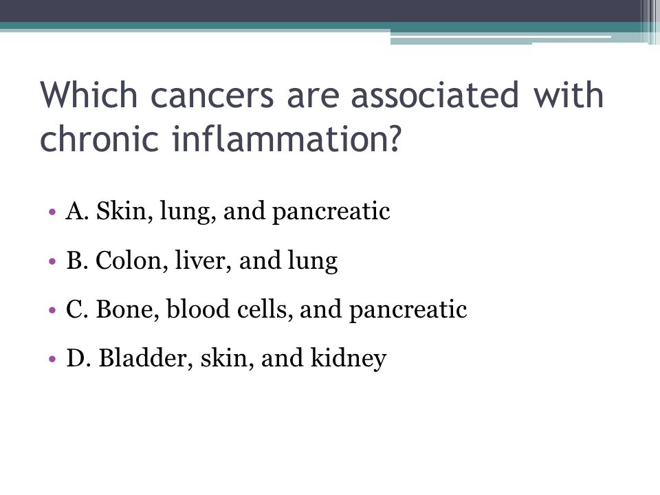 Which cancers are associated with chronic inflammation