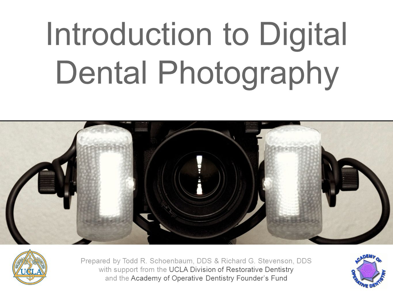 Introduction to Digital Dental Photography