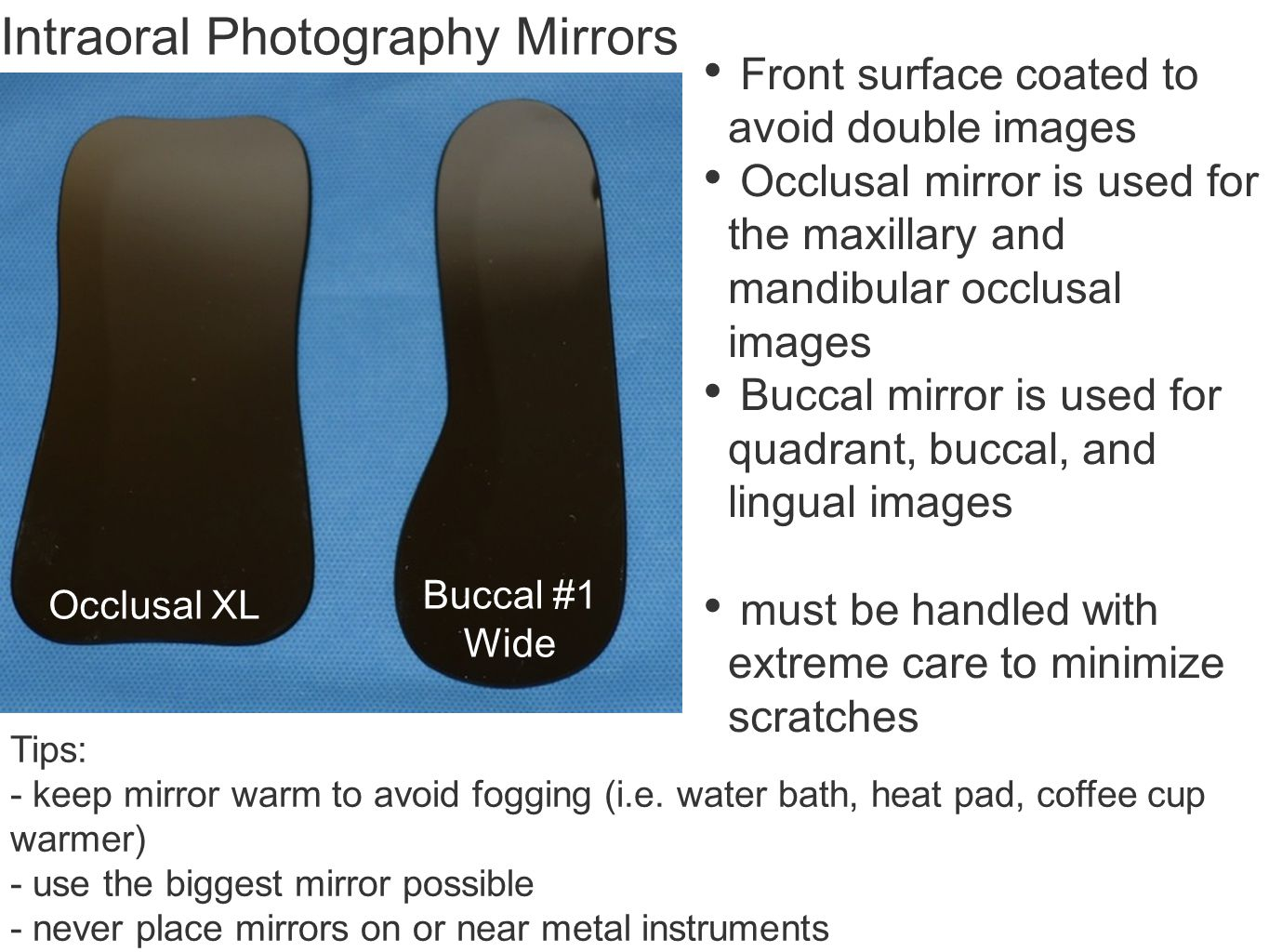 Intraoral Photography Mirrors
