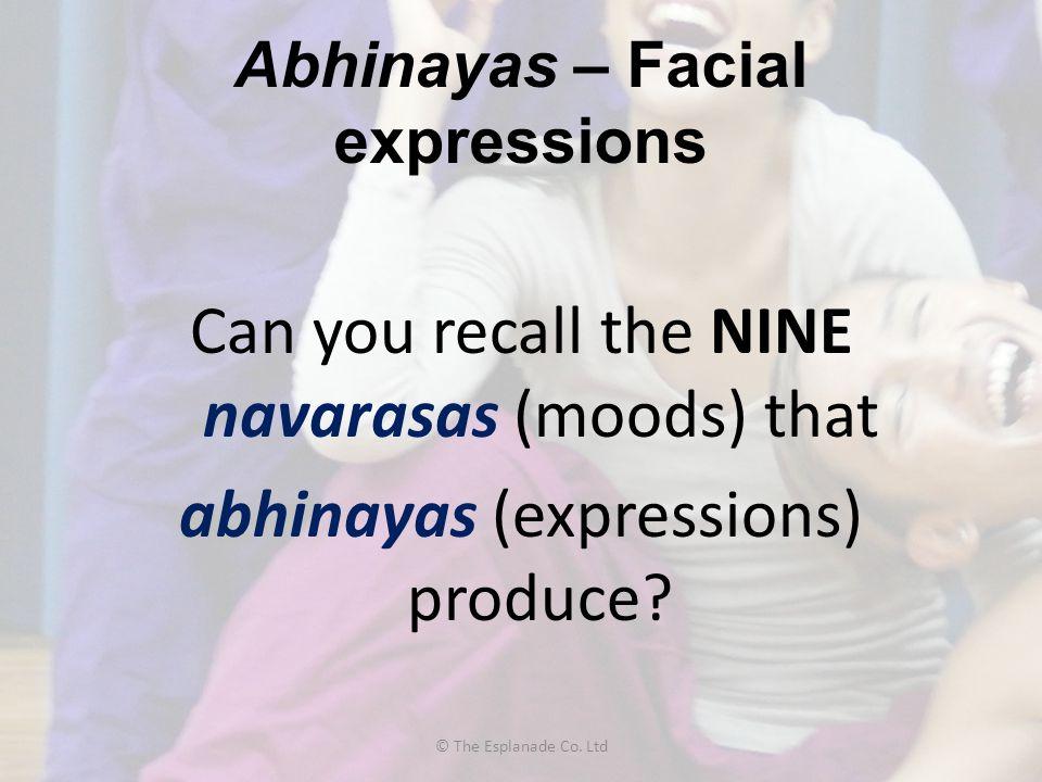 Abhinayas – Facial expressions