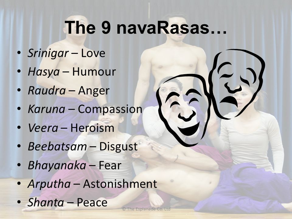 The 9 navaRasas… Srinigar – Love Hasya – Humour Raudra – Anger