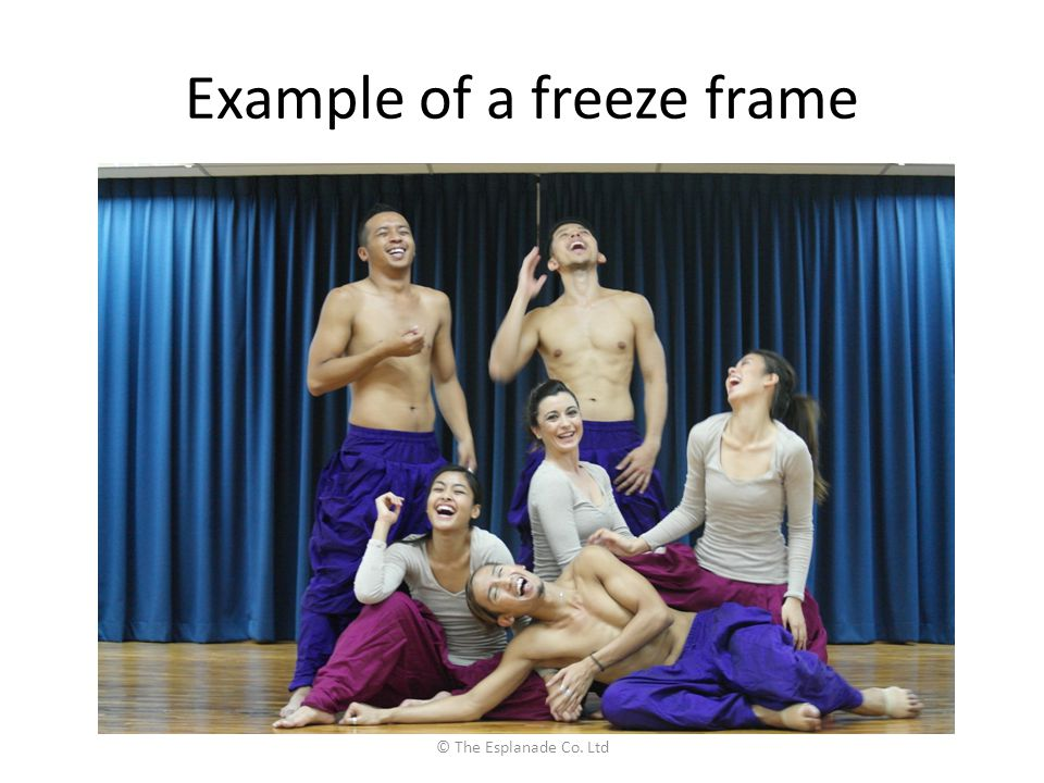 Example of a freeze frame