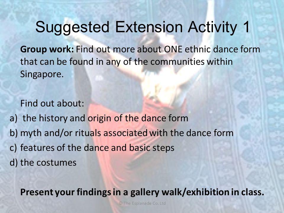 Suggested Extension Activity 1