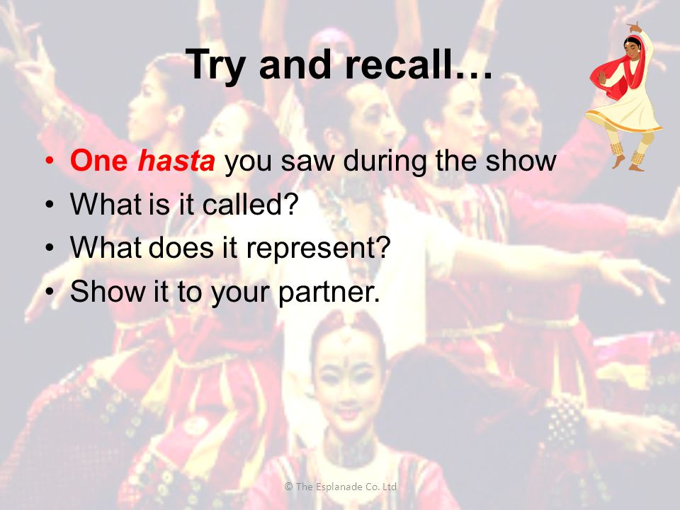 Try and recall… One hasta you saw during the show What is it called