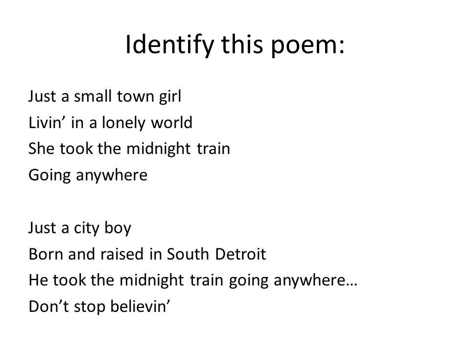 Identify this poem: