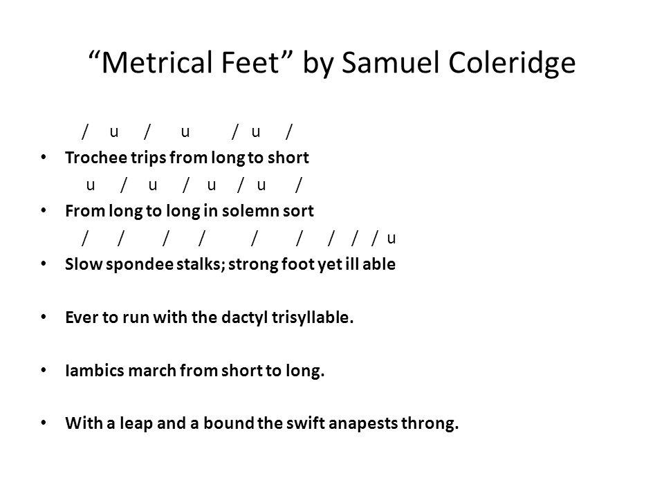 Metrical Feet by Samuel Coleridge
