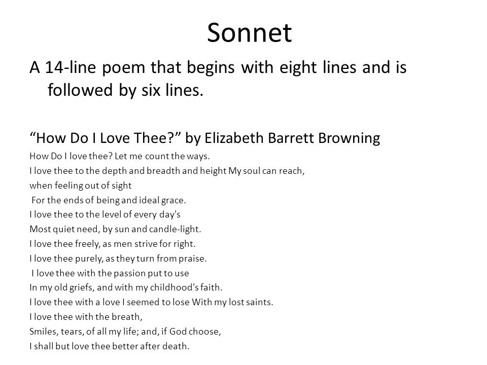Sonnets Lesson Plan: Teaching Sonnets in High School