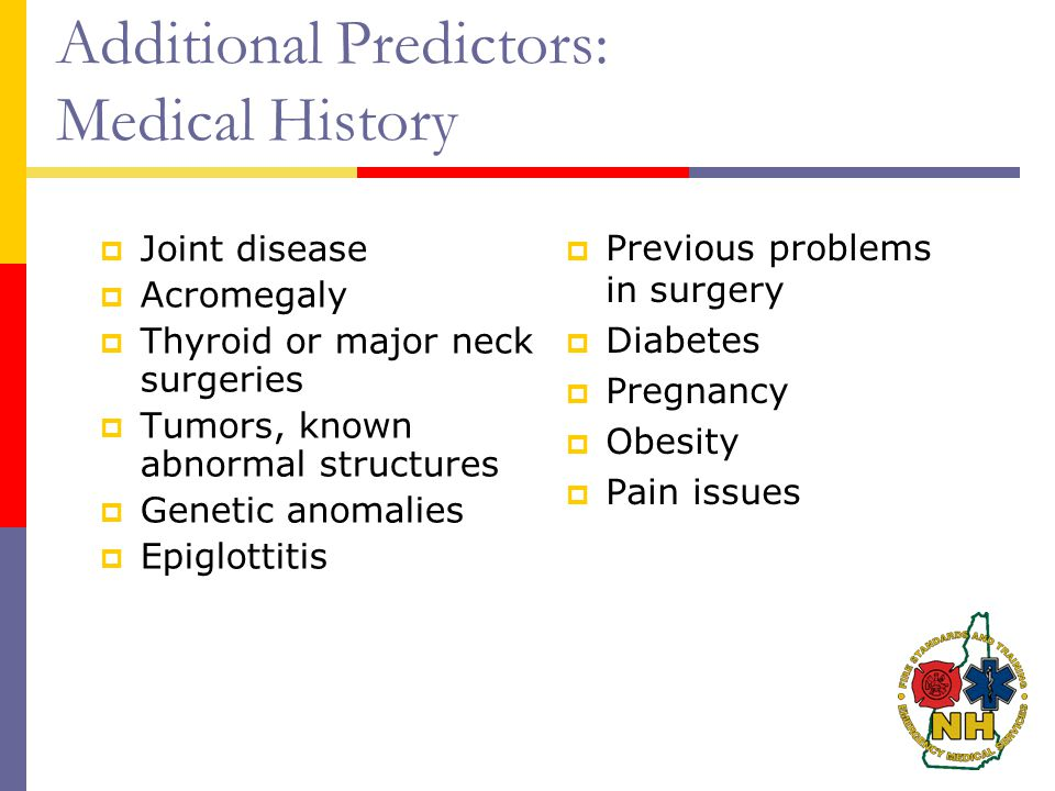 Additional Predictors: Medical History