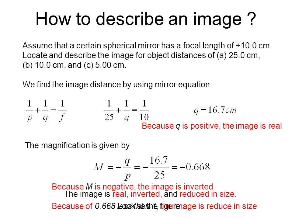 How to describe an image