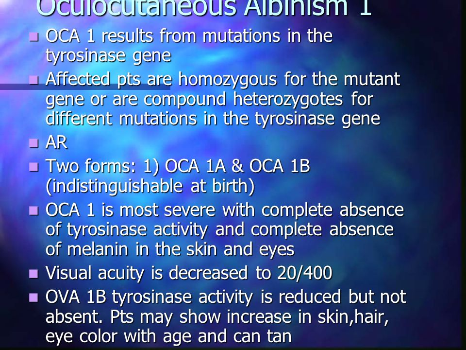 Oculocutaneous Albinism 1