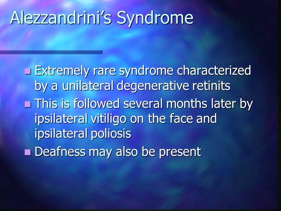 Alezzandrini's Syndrome